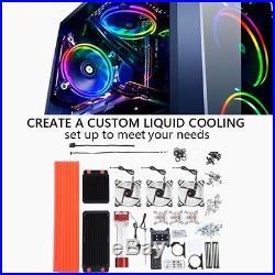 PC Liquid Water Cooling Complete Kit 275mm Radiator CPU GPU Block Reservoir LED