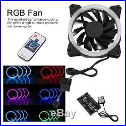 PC Liquid Water Cooling Cooler Kit Heatsink Reservoir Pump CPU GPU Block RGB Fan