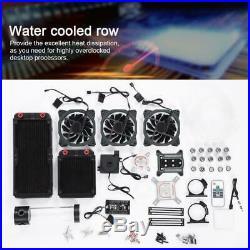 PC Liquid Water Cooling Kit G1/4 Heatsink Reservoir Pump CPU Block RGB Fan Tube