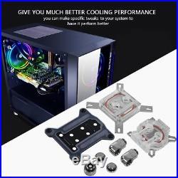 PC Liquid Water Cooling Radiator Kit CPU Block 3 Fans Pump Reservoir Tube 275mm