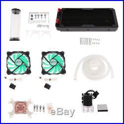PC Liquid Water Cooling Radiator Kits Pump Reservoir CPU GPU Blocks HeatSink