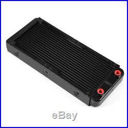 PC Water Cooling Kit System 240mm Radiator Reservoir Pump CPU Block 2x LED Fan