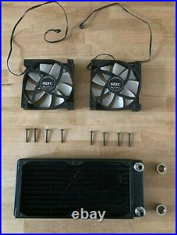 PC Water Cooling Kit XSPC Pump, Radiator and CPU Block, with 2x NZXT Fans