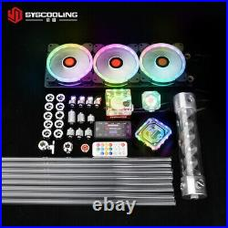 PC water cooling kit for Intel CPU socket PETG tube liquid cooling system RGB