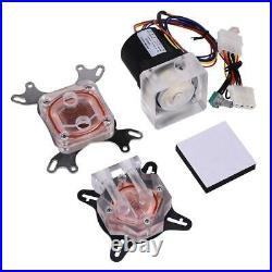 Pro Water Cooling Kit 240mm CPU GPU Block Pump Reservoir 2x LED Fans TG