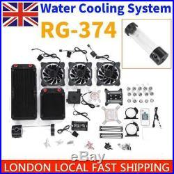 RG-374 12V Computer Heatsink PC Water Cooling System Kit Parts Liquid Cooler Set