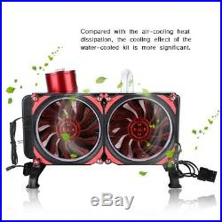 Red Powerful Water Cooling Kit Complete PC Water-cooled Set for Laptop SM