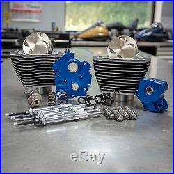 S&S 124 M8 Bolt On Big Bore Kit Highlighted Chain Cam Chrome Pushrod Water Cool