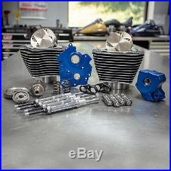 S&S 124 M8 Bolt On Big Bore Kit Highlighted Gear Cam Chrome Pushrod Water Cool