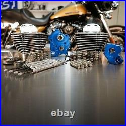 S&S 128 M8 Bolt On Big Bore Kit Granite Fin Gear Cam Chrome Rod Water Cooled