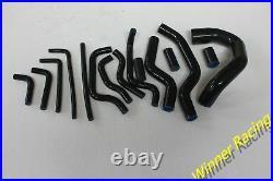 Silicone water cooling & heater hose kit Black For Fit Jaguar XJS V12