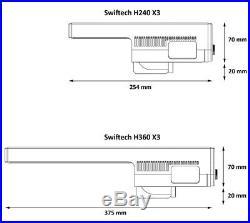 Swiftech Drive X3 Dual Fan Radiator AIO Liquid CPU Cooling Kit, H240X3