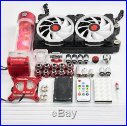 Syscooling hard tube water cooling kit for PC CPU water cooling system with RGB