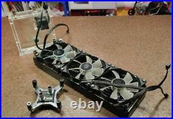 TRIPLE PC Liquid Cooling Kit Radiator Pump Reservoir CPU HeatSink