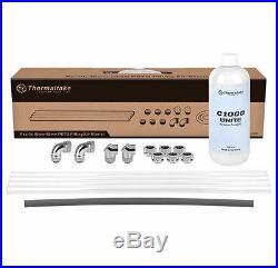 Thermaltake CL-W154-CU00WT-A Pacific 16mm OD 12mm ID PETG Fitting Kit Starter