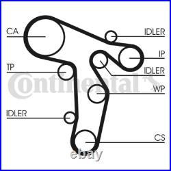 Timing Belt Kit CT1139WP6 VW TRANSPORTER V Bus Box 2.0 BiTDI Pu
