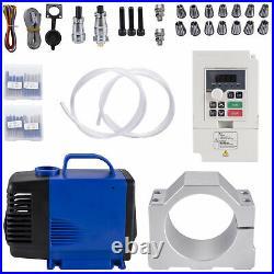 VEVOR CNC Water Cooled Spindle Motor Kit 3KW 220V VFD Clamp Pump Pipe Collet