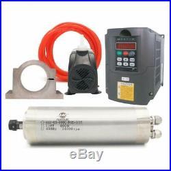 VFD CNC Spindle Motor Kits110V 1.5KW VFD+110V 800W 4 bearings Water Cooled S
