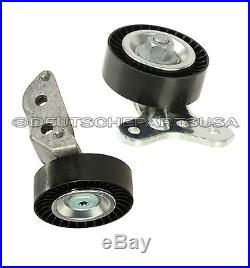 VW 2.5 DRIVE BELT IDLER TENSIONER PULLEY Water Pump Thermostat Cooling Kit 4 Pc