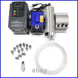 Water-Cooled 1.5KW Spindle Motor 4Bearing ER11 Collet with VFD Inverter Mount Kit