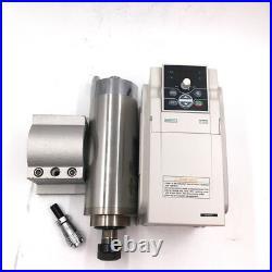 Water-cooled 2.2KW Spindle Motor ER20 D80MM&3.7KW VFD Inverter&Pump&Bracket Kit